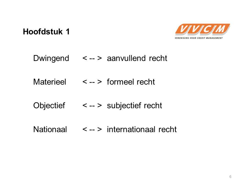 Hoofdstuk 1  Rechtsbronnen a.Wet b. Internationale regelingen c.
