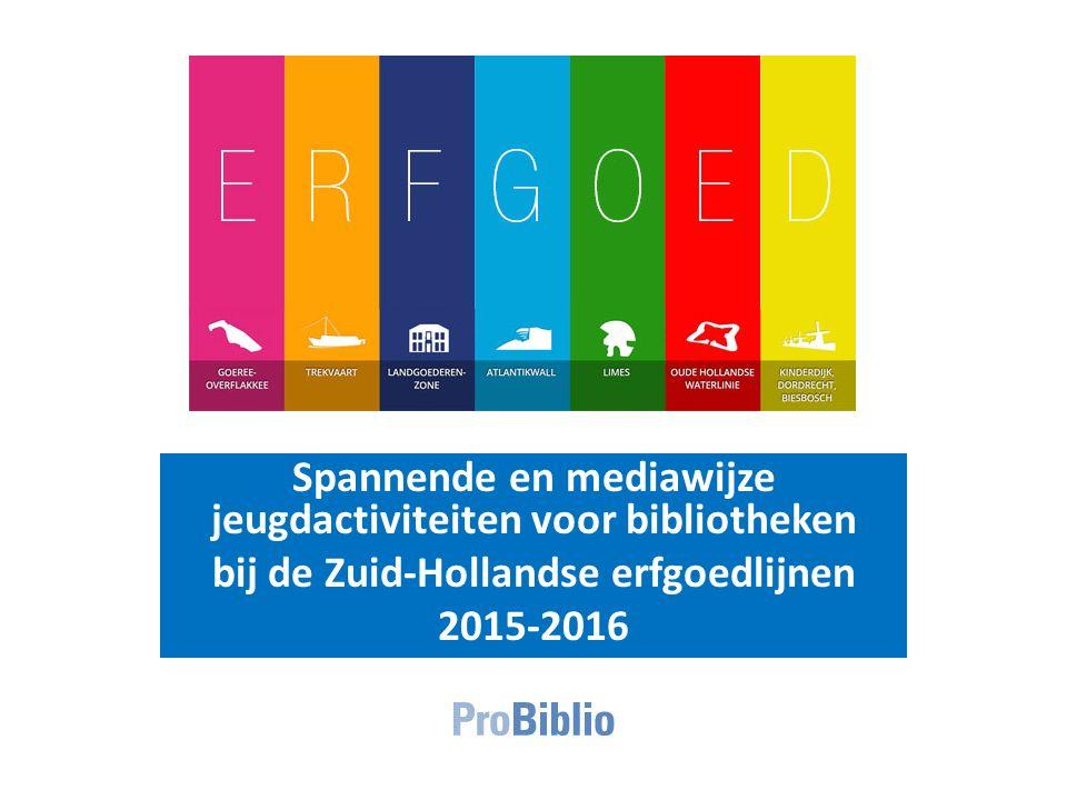 Spannende en mediawijze jeugdactiviteiten voor bibliotheken bij de Zuid-Hollandse erfgoedlijnen 2015-2016
