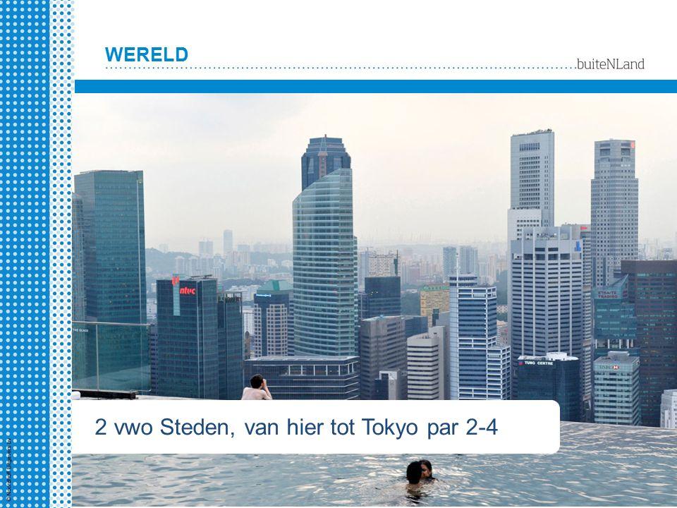WERELD 2 hv Steden, van hier tot Tokyo § 1-4 2 vwo Steden, van hier tot Tokyo par 2-4
