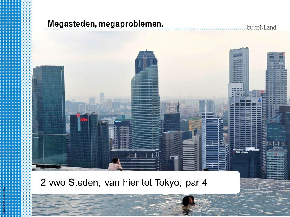 2 hv Steden, van hier tot Tokyo § 1-4 2 vwo Steden, van hier tot Tokyo, par 4 Megasteden, megaproblemen.