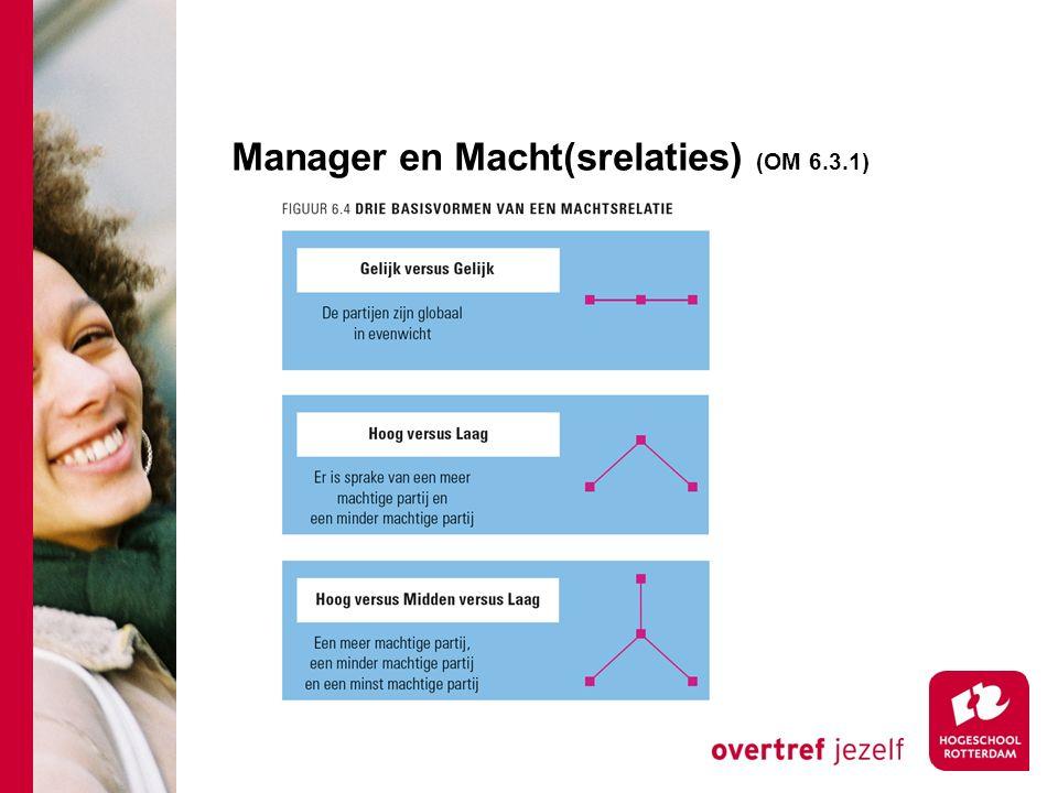 Manager en Macht(srelaties) (OM 6.3.1)
