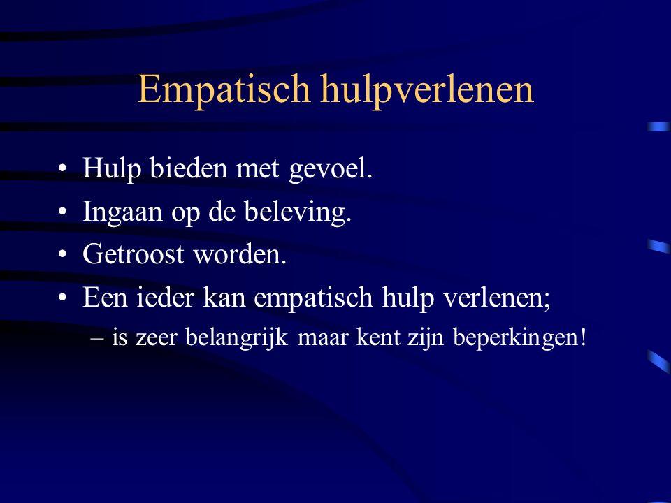 Wat betekent dat voor het medisch maatschappelijk werk ? Empatisch hulpverlening Methodische hulpverlening