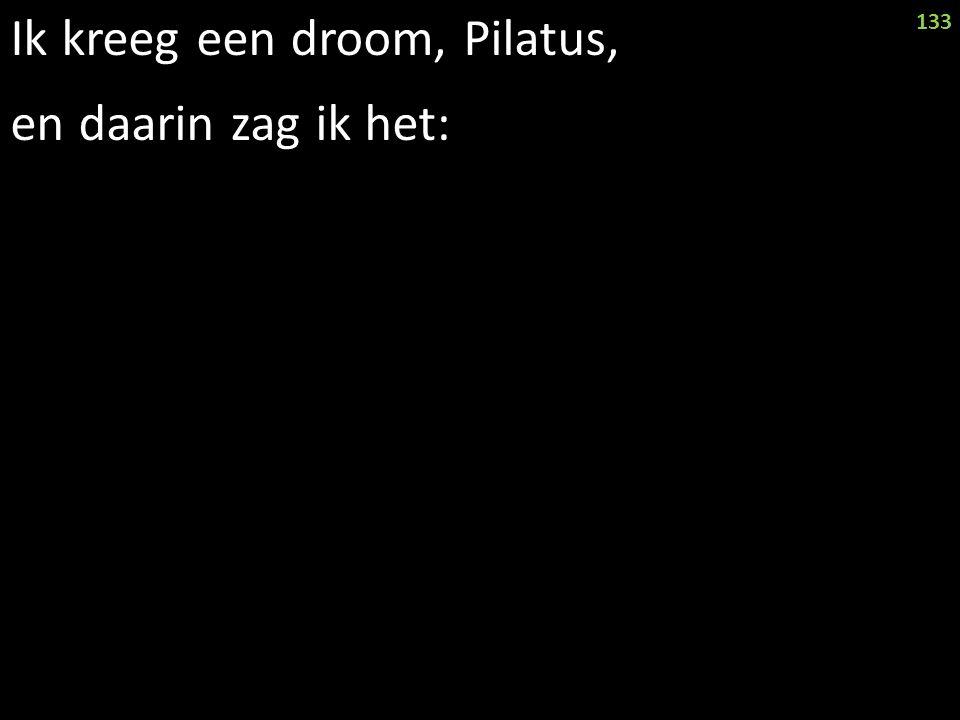 Ik kreeg een droom, Pilatus, en daarin zag ik het: 133