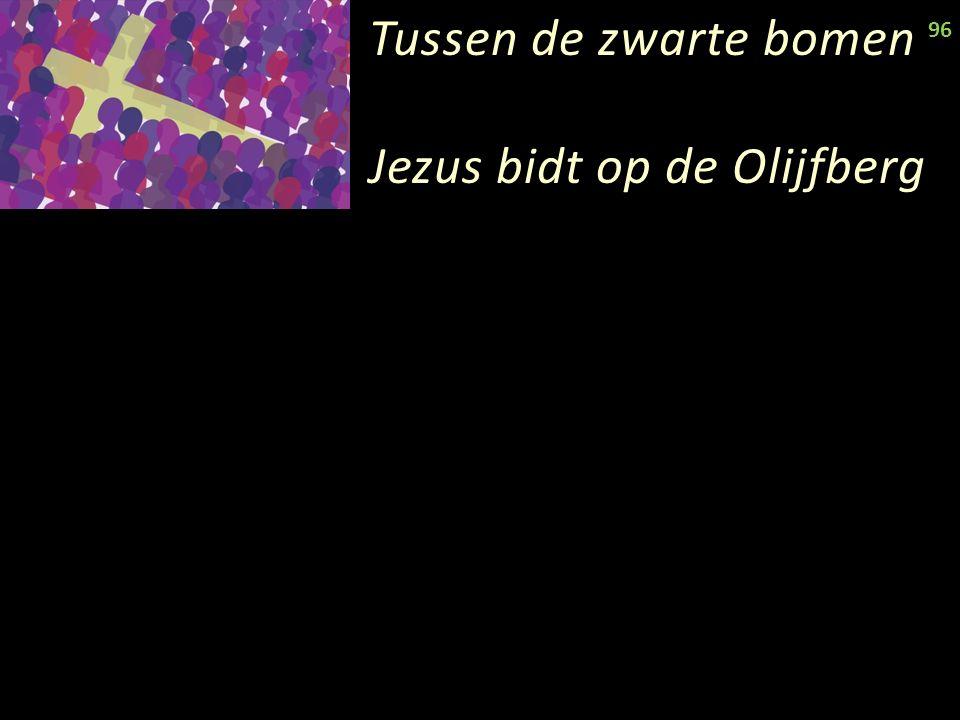 Tussen de zwarte bomen Jezus bidt op de Olijfberg 96