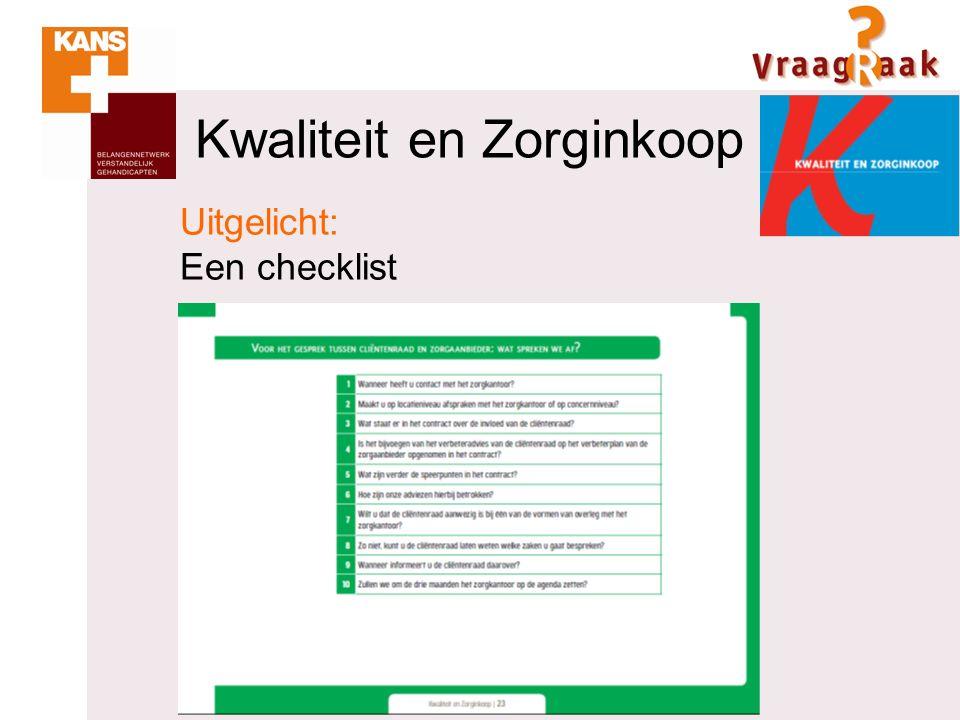 Kwaliteit en Zorginkoop Uitgelicht: Een checklist