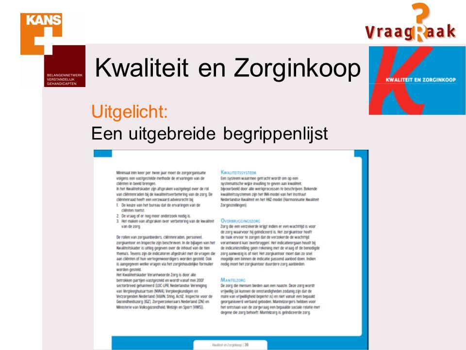 Kwaliteit en Zorginkoop Uitgelicht: Een opschrijfboek bij de wegwijzer
