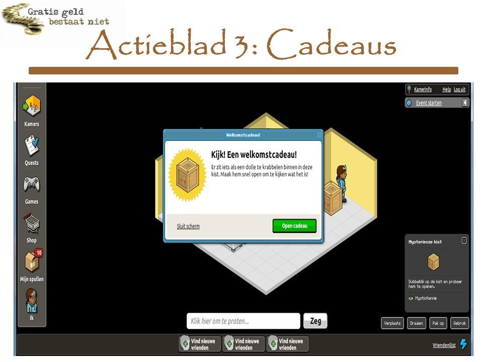 Actieblad 3: Cadeaus