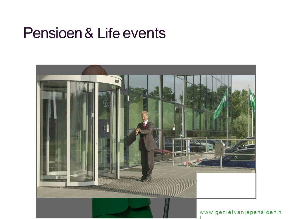 Pensioen & Life events www.genietvanjepensioen.n l
