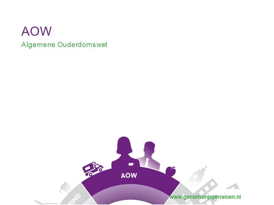 AOW Algemene Ouderdomswet www.genietvanjepensioen.nl