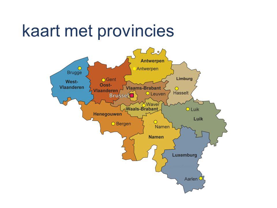 kaart met provincies