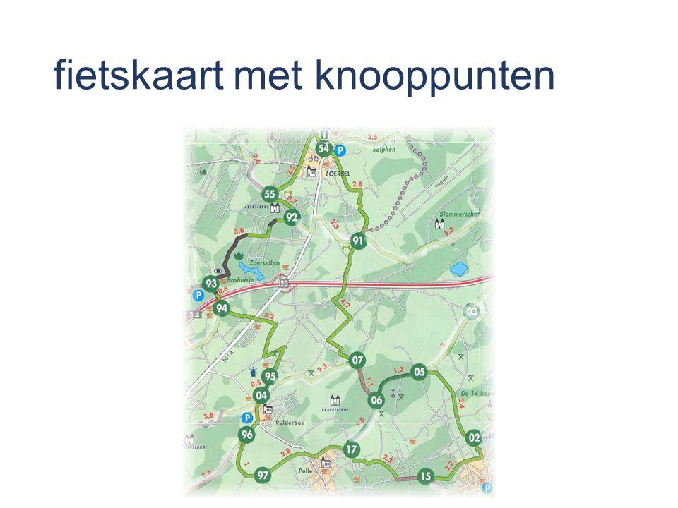 fietskaart met knooppunten