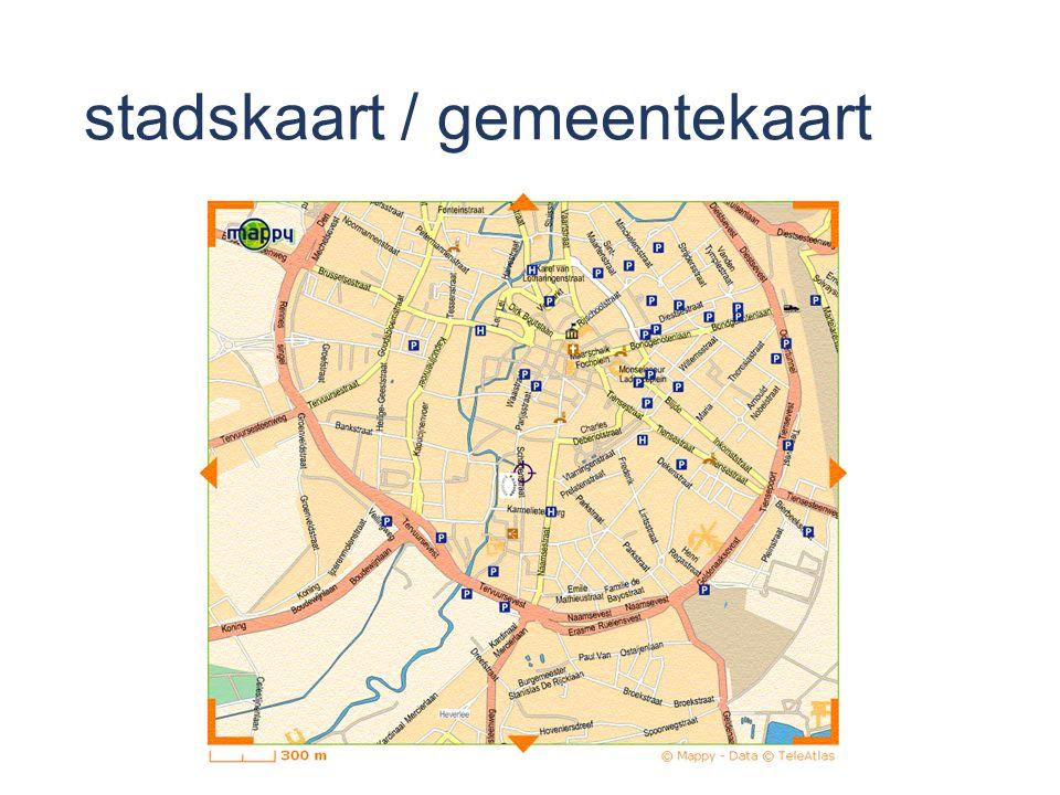 stadskaart / gemeentekaart