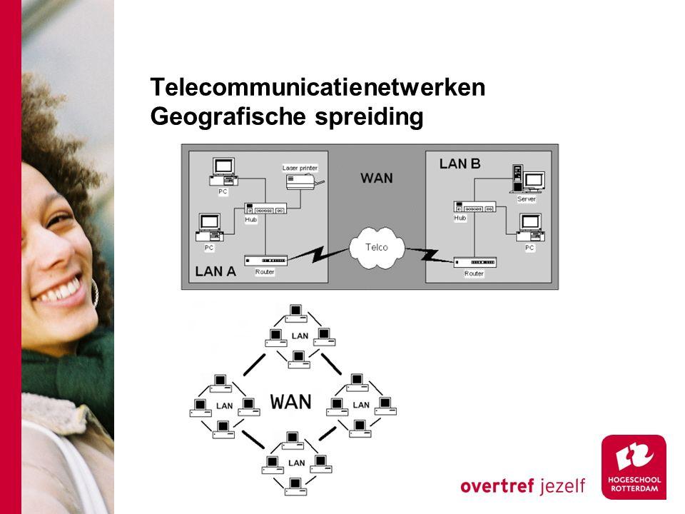 Telecommunicatienetwerken Geografische spreiding