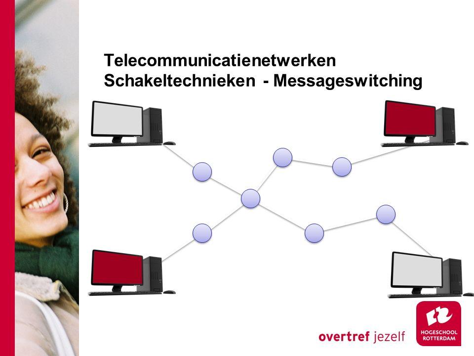Telecommunicatienetwerken Schakeltechnieken - Messageswitching