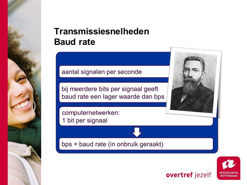 Transmissiesnelheden Baud rate