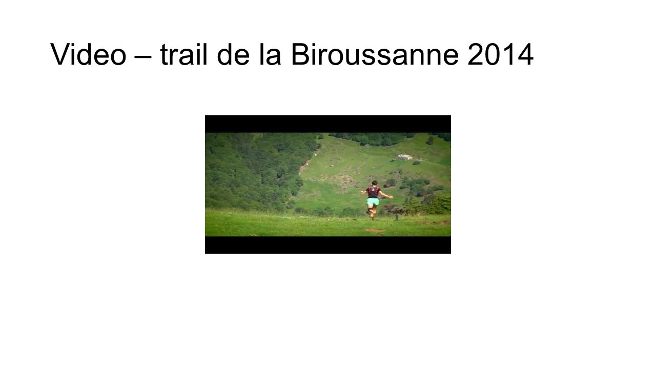 Video – trail de la Biroussanne 2014