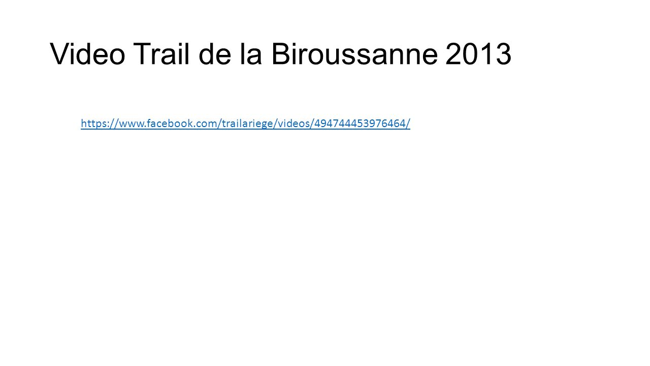 Video Trail de la Biroussanne 2013 https://www.facebook.com/trailariege/videos/494744453976464/