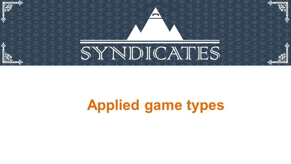 Applied game types