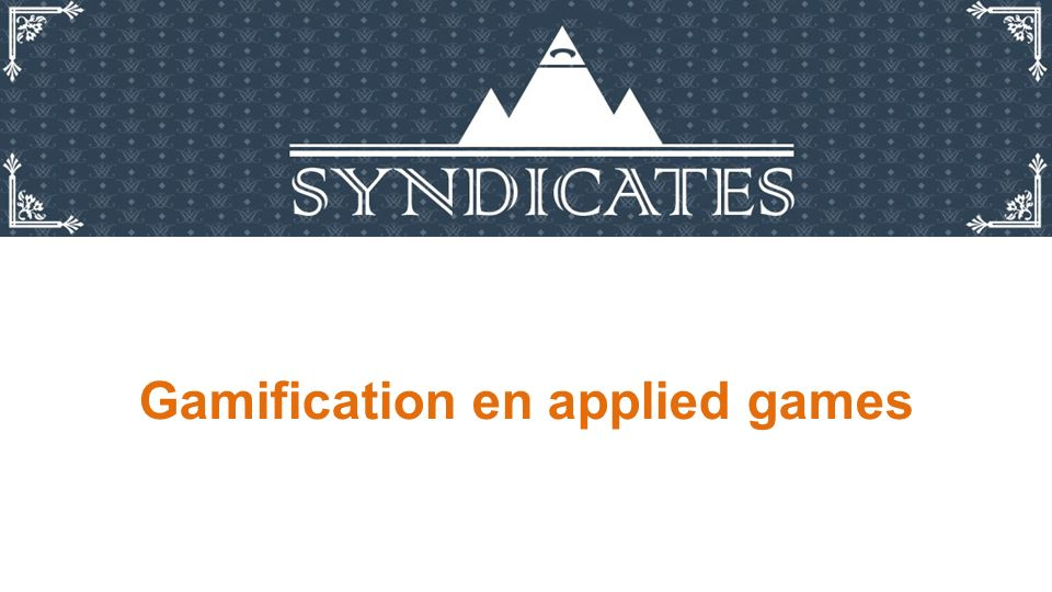 Gamification en applied games