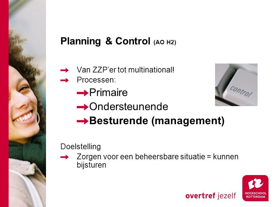 Planning & Control (AO H2) Van ZZP'er tot multinational.