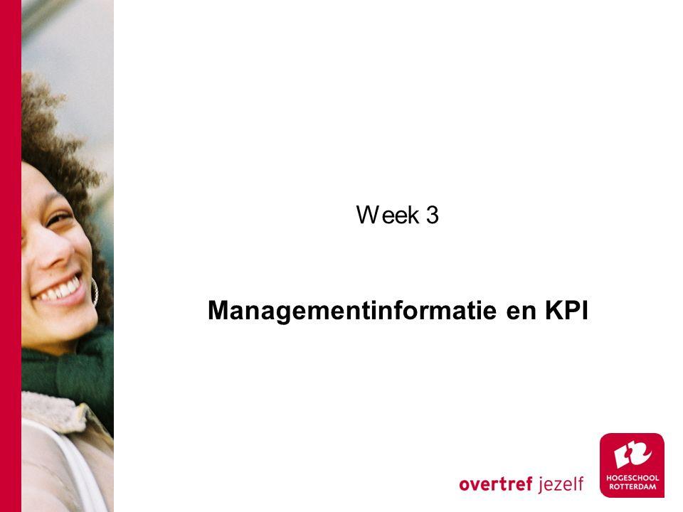Week 3 Managementinformatie en KPI
