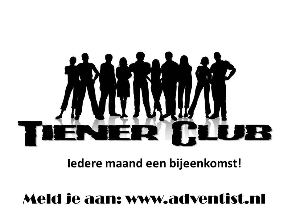 Iedere 1 e sabbat van de maand 14.30 – 21.30 uur Huis ter Heide Meld je aan: www.adventist.nl Iedere maand een bijeenkomst!