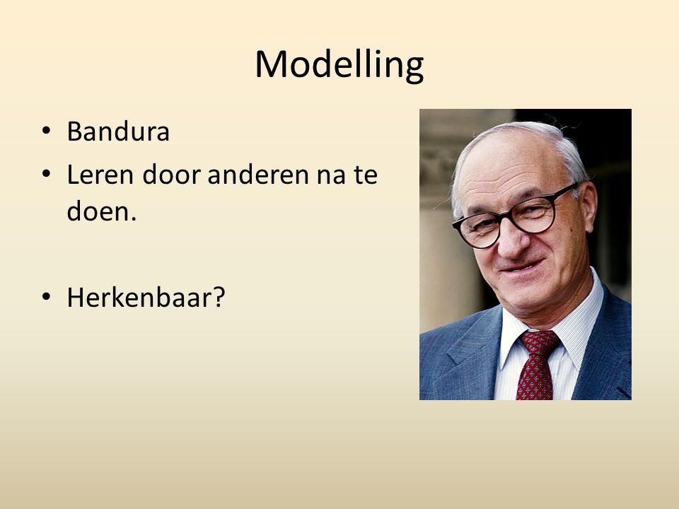 Modelling Bandura Leren door anderen na te doen. Herkenbaar?