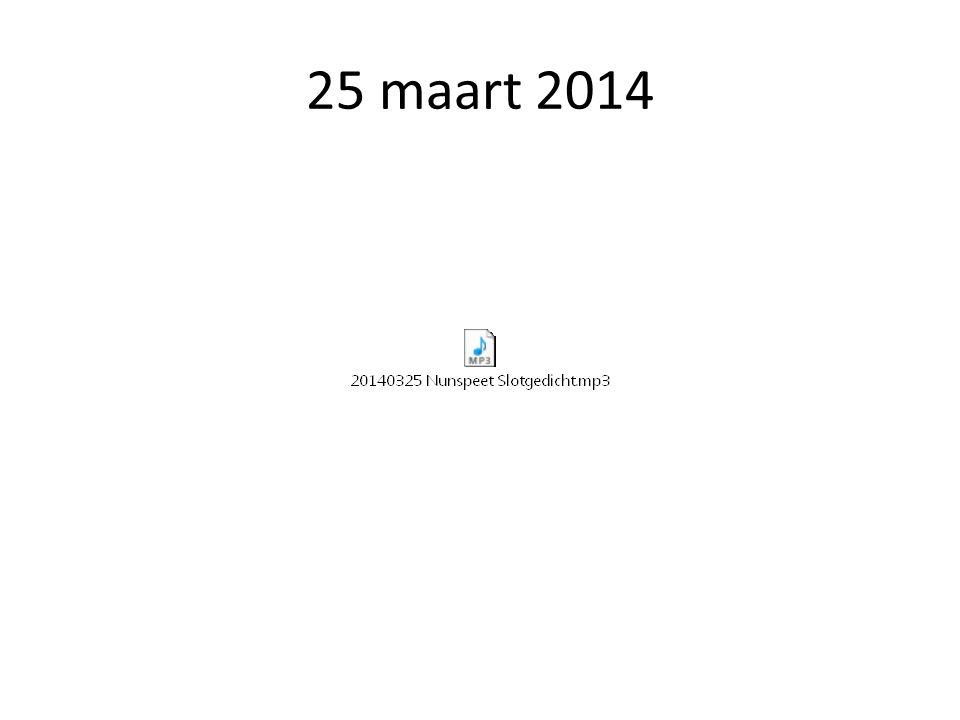 25 maart 2014