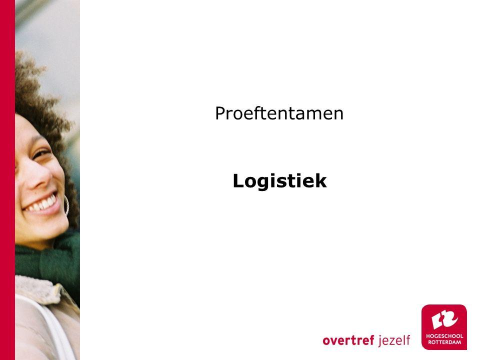 Proeftentamen Logistiek