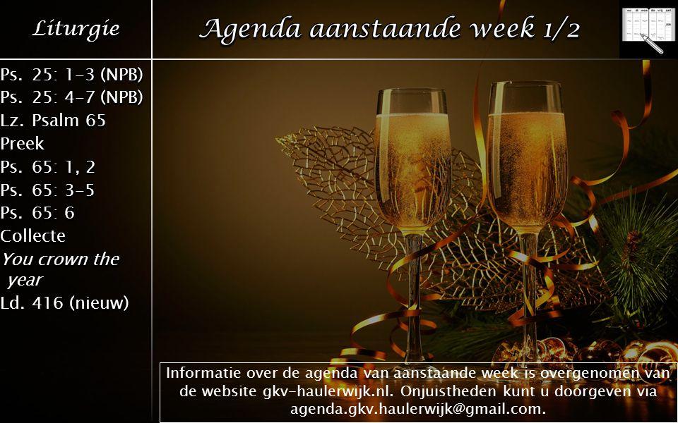 Informatie over de agenda van aanstaande week is overgenomen van de website gkv-haulerwijk.nl.