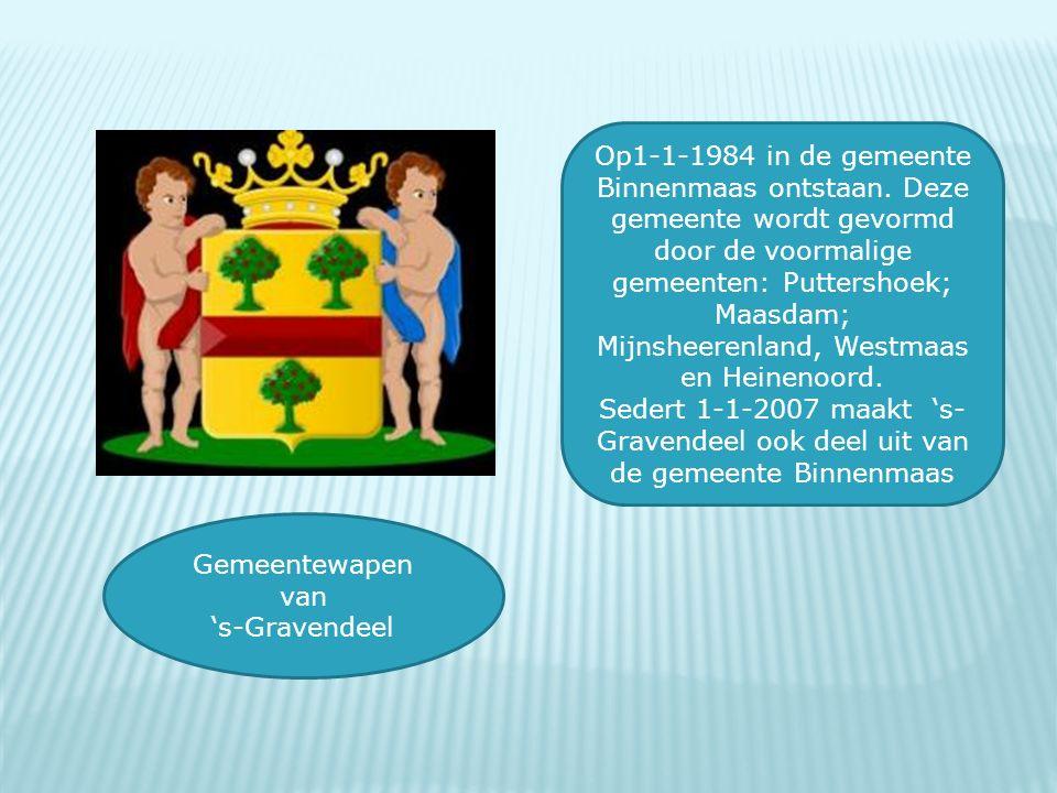 Op1-1-1984 in de gemeente Binnenmaas ontstaan. Deze gemeente wordt gevormd door de voormalige gemeenten: Puttershoek; Maasdam; Mijnsheerenland, Westma