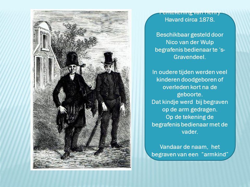 Pentekening van Henry Havard circa 1878. Beschikbaar gesteld door Nico van der Wulp begrafenis bedienaar te 's- Gravendeel. In oudere tijden werden ve