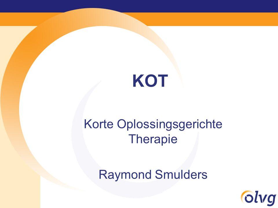 KOT Korte Oplossingsgerichte Therapie Raymond Smulders