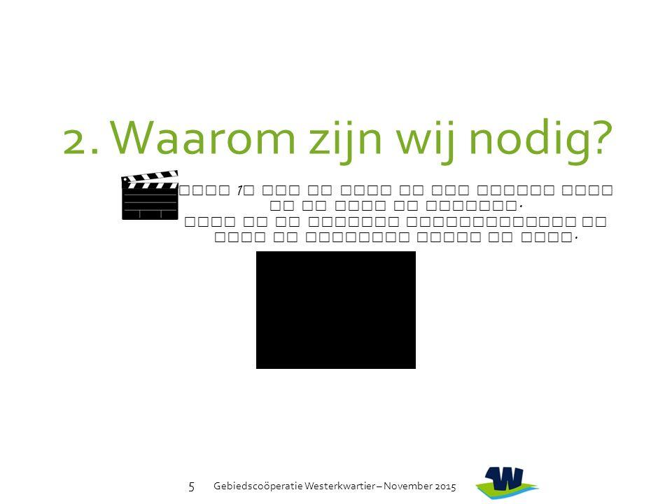 Gebiedscoöperatie Westerkwartier – November 2015 5 Klik 1 x met de muis op het zwarte vlak om de film te starten.