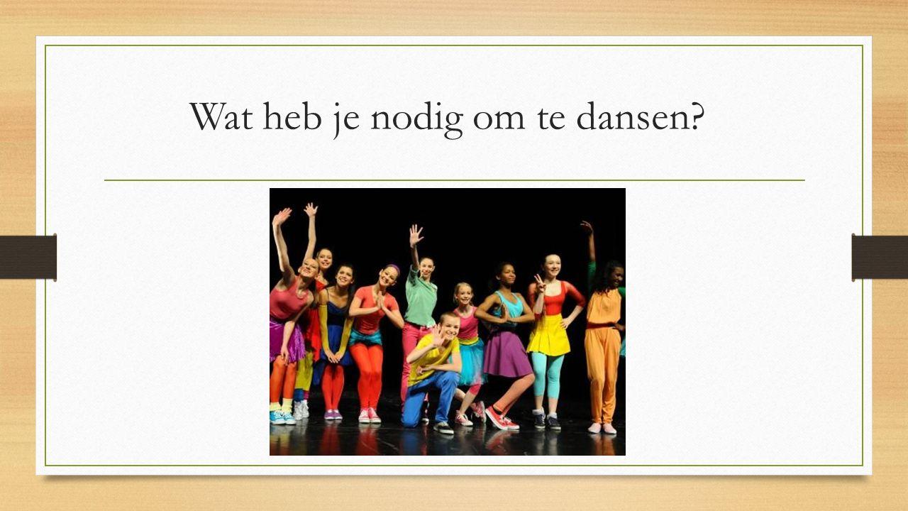 Meestal gebruiken wij muziek om op te dansen Welke muziek kun je gebruiken om te dansen.