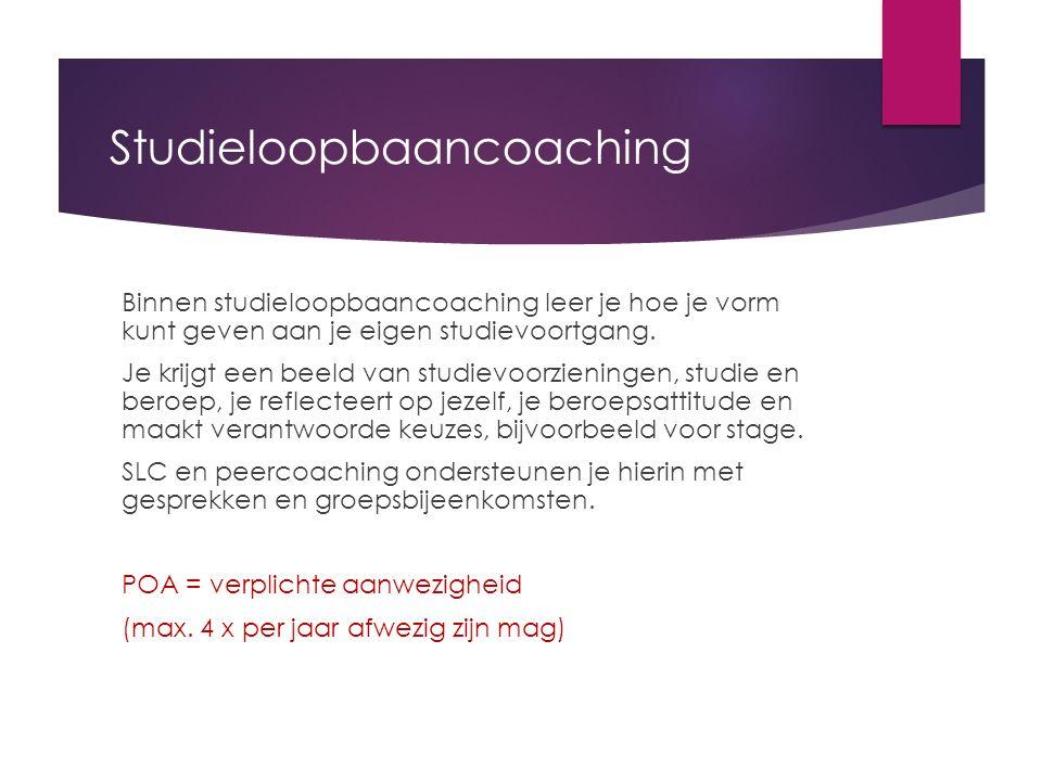 Studieloopbaancoaching Binnen studieloopbaancoaching leer je hoe je vorm kunt geven aan je eigen studievoortgang. Je krijgt een beeld van studievoorzi