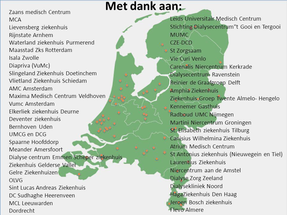 Zaans medisch Centrum MCA Lievensberg ziekenhuis Rijnstate Arnhem Waterland ziekenhuis Purmerend Maasstad Zks Rotterdam Isala Zwolle Diapriva (VuMc) S