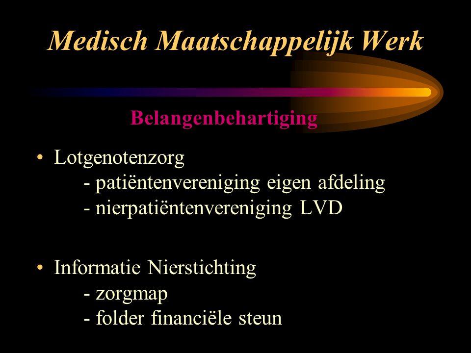 Vakantie Individueel of in groepsverband Binnenland en Buitenland Nierstichting (vakantiekrant en subsidie) Baxter (bezorging)