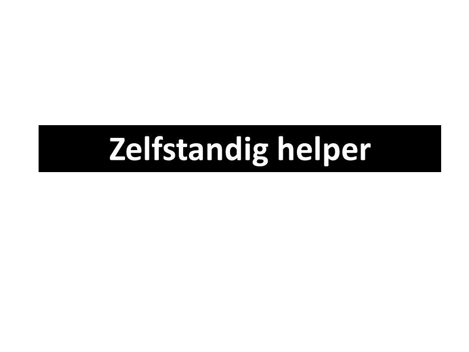 Zelfstandig helper