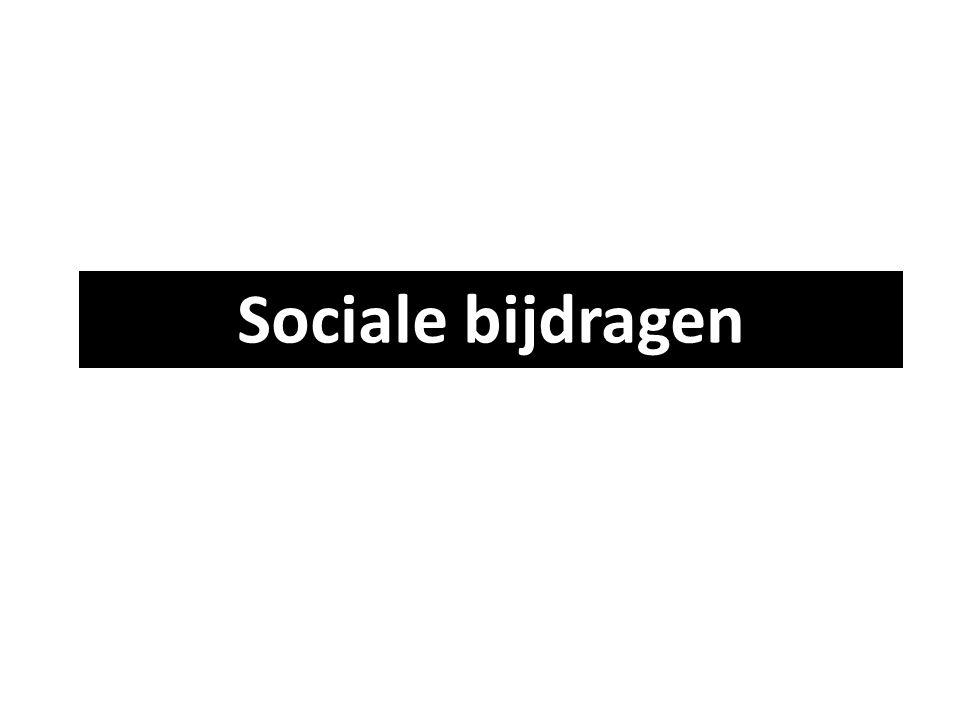 Sociale bijdragen