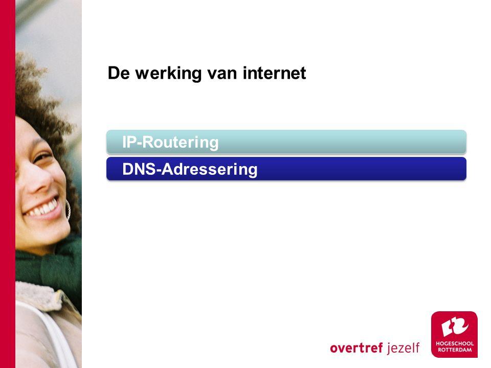 De werking van internet IP-Routering DNS-Adressering