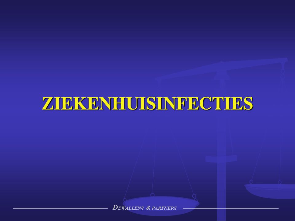 Situering KCE 2008/2009: 125.500 infecties per jaar KCE 2008/2009: 125.500 infecties per jaar Wet 15 mei 2007 (art.