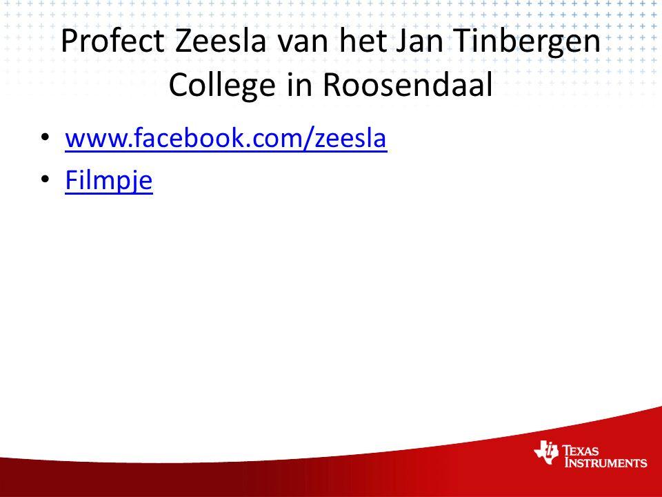 Profect Zeesla van het Jan Tinbergen College in Roosendaal www.facebook.com/zeesla Filmpje