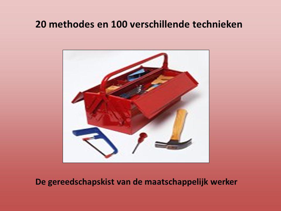 20 methodes en 100 verschillende technieken De gereedschapskist van de maatschappelijk werker