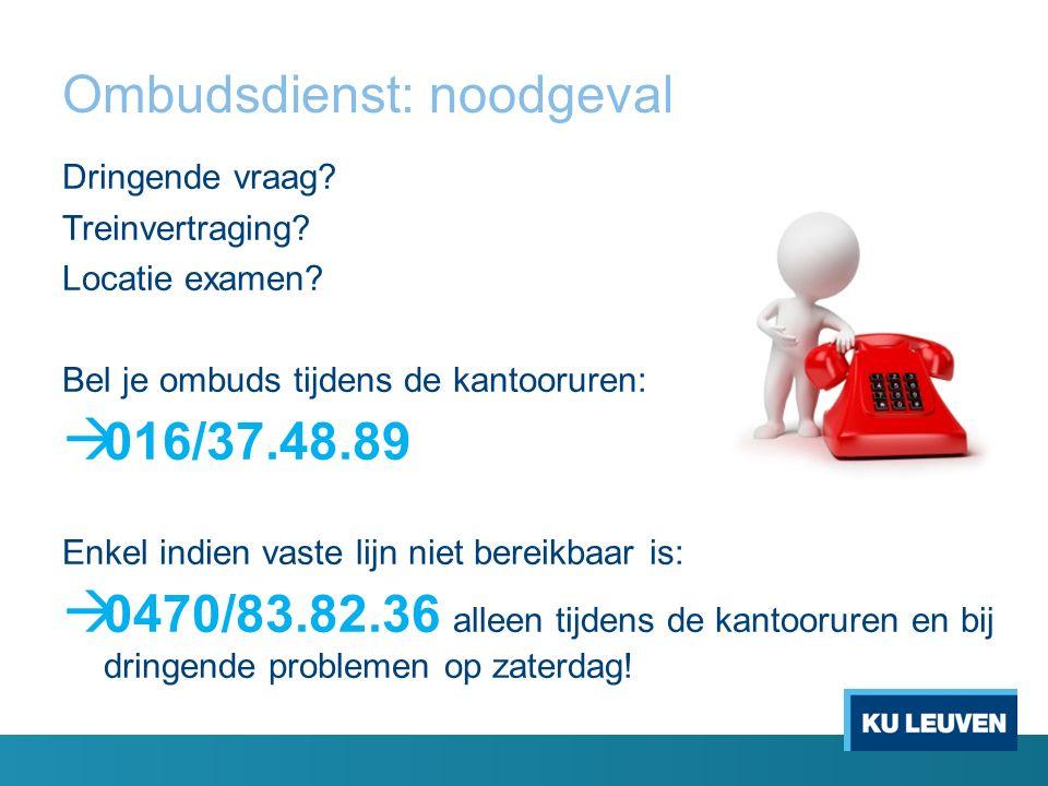 Ombudsdienst: noodgeval Dringende vraag. Treinvertraging.