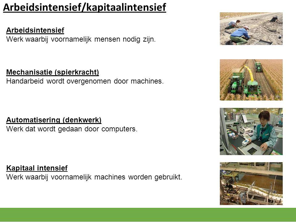 Gevolg voor de werkgelegenheid door mechanisatie/automatisering Op korte termijn Neemt de werkgelegenheid af, want machines of computers vervangt arbeid.