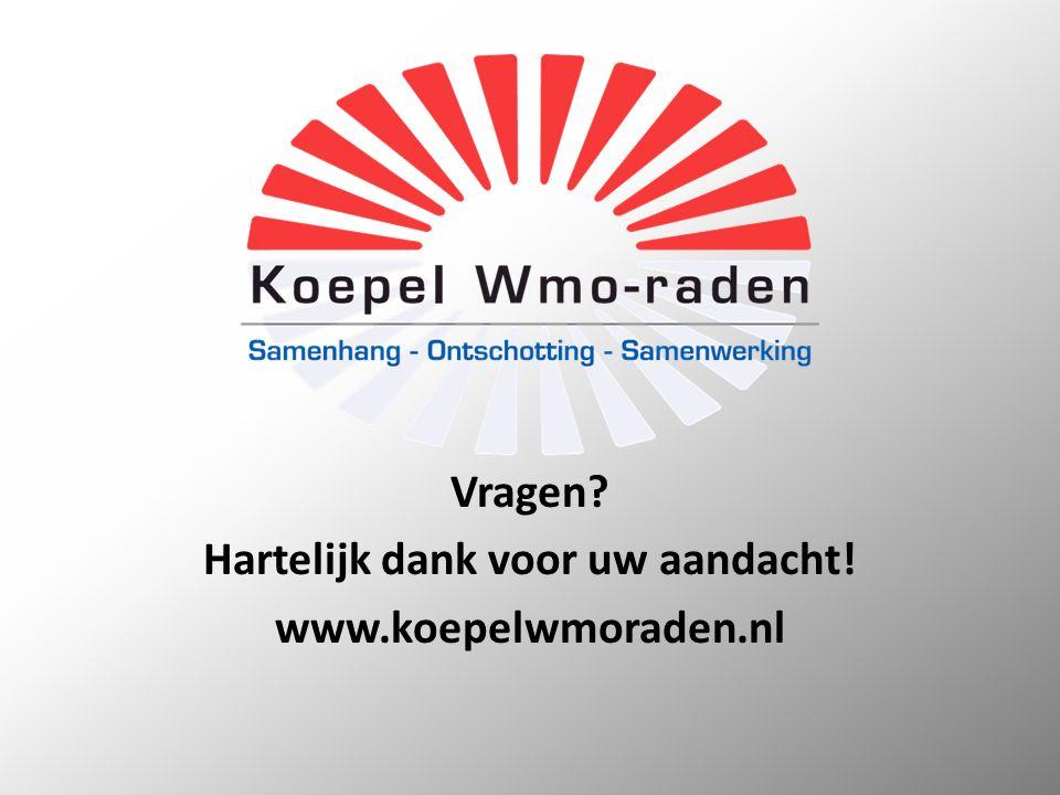 Vragen? Hartelijk dank voor uw aandacht! www.koepelwmoraden.nl