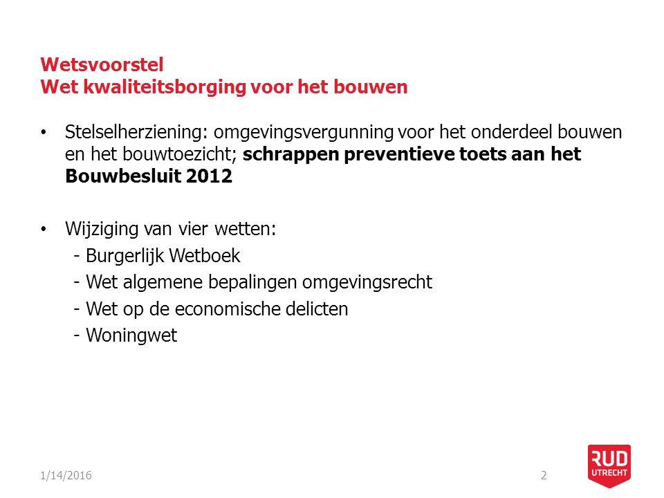 Wetsvoorstel Wet kwaliteitsborging voor het bouwen Omgevingsvergunning voor het bouwen in het nieuwe stelsel: Aanvraag: o.a.