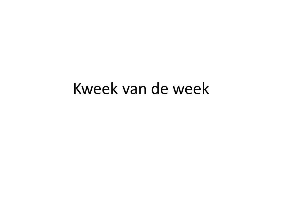 Kweek van de week