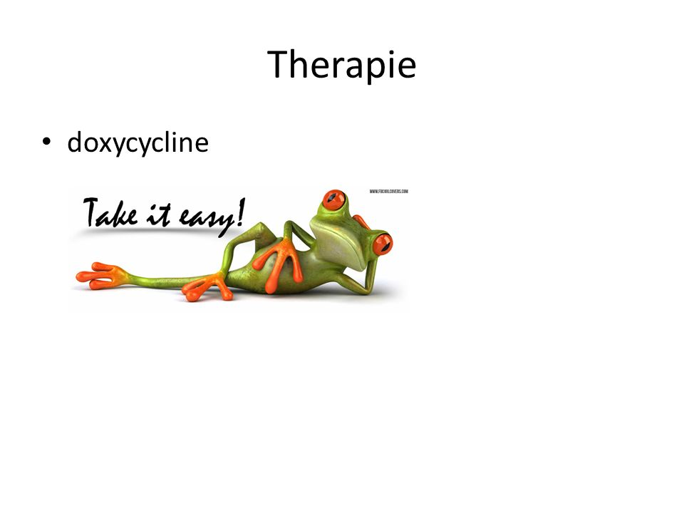 Therapie doxycycline